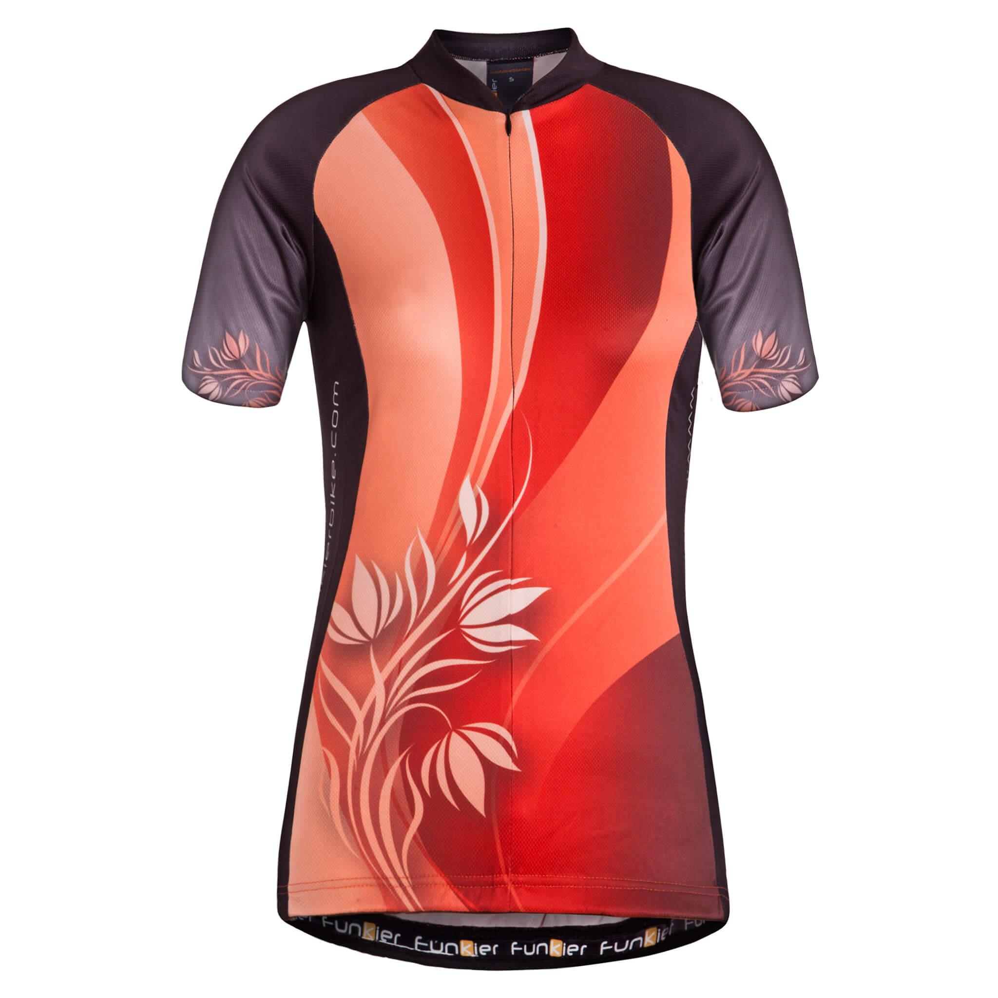 97556b2ad Ladies Short Sleeve Jerseys J-386 - Funkier Bike