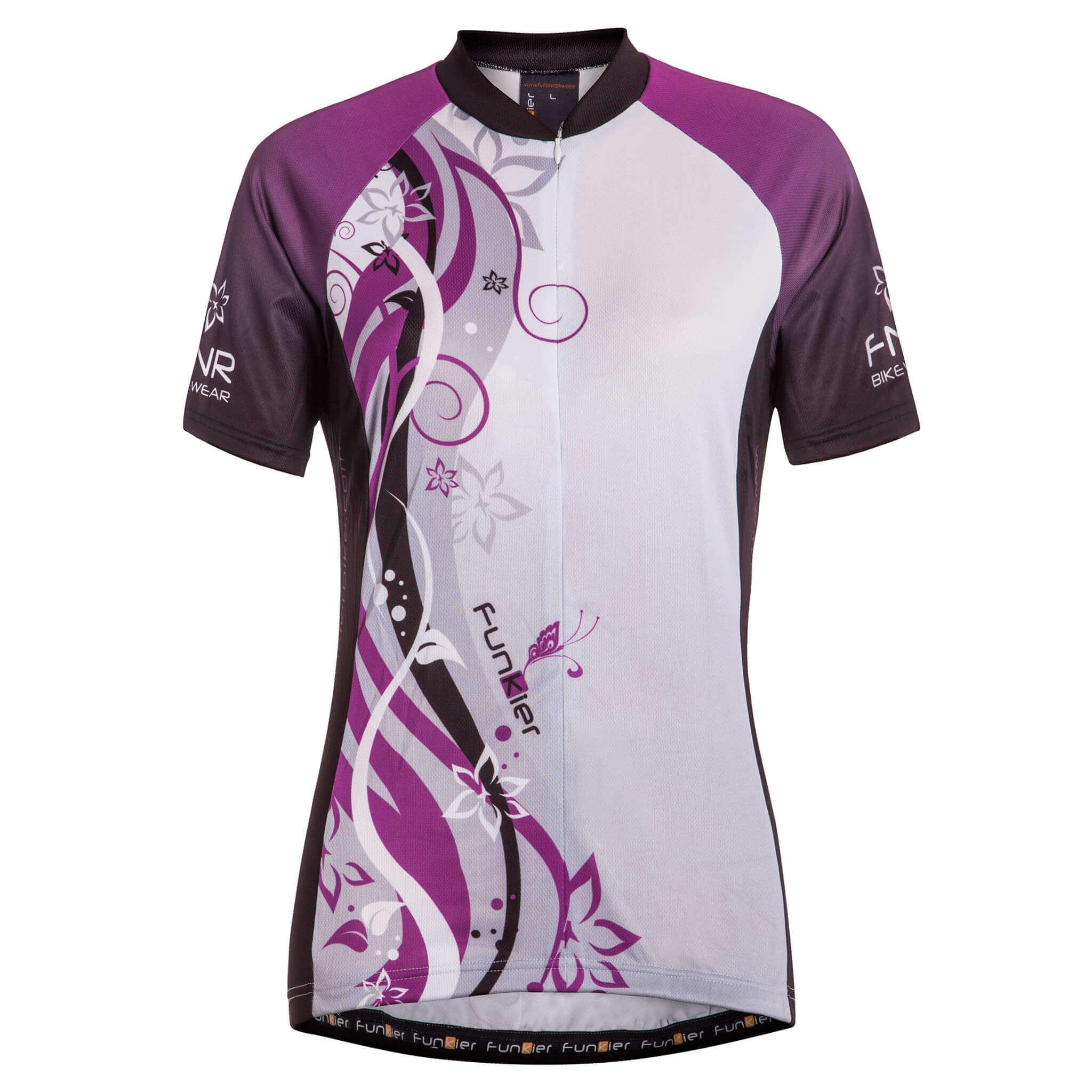 cd8f06a94 Ladies Short Sleeve Jersey J-383 - Funkier Bike